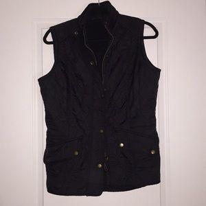Black Barbour vest